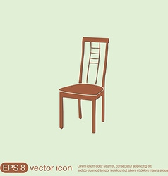 Chair icon symbol furniture icon home interior vector