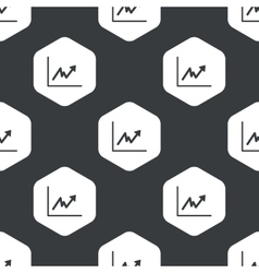 Black hexagon rising graphic pattern vector