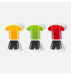 Realistic design element football clothing vector