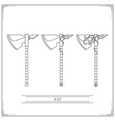 Fantasy Axe Lineart vector image