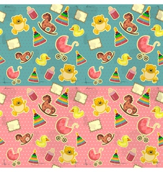 Seamless infant deco pattern vector