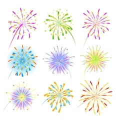 Fireworks celebration collection for holiday vector
