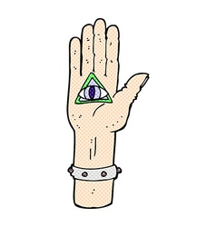 Comic cartoon spooky hand symbol vector