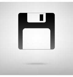 Floppy disk black icon vector