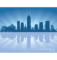 Indianapolis indiana skyline vector
