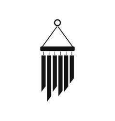 Wind chimes icon simple style vector image