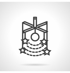 Stars model simple line icon vector