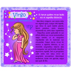 Virgo Zodiac kid vector image