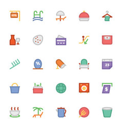 Hotel and restaurant colored icons 12 vector