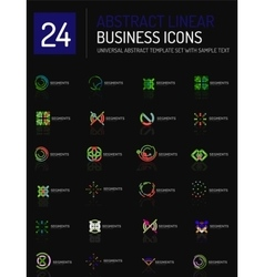 Abstract thin line business icons vector