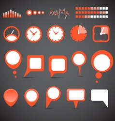 Indicators and speech clouds collection vector