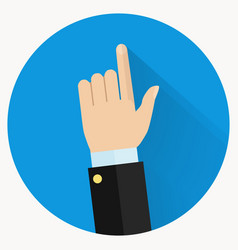 Advice icon businessman hand with pointing finger vector