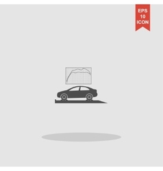 Car service icon flat design style vector