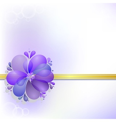 Abstract background with floral ornament eps10 vector image vector image