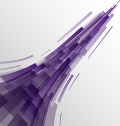 Abstract violet rectangles technology background vector