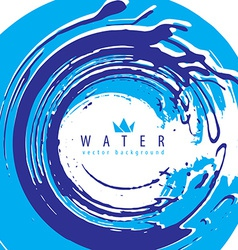 Abstract water splash background mad vector