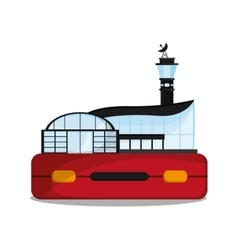 Airport building to travel design vector