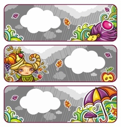 autumn banners part 2 vector image vector image