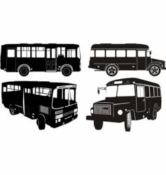 bus silhouettes vector image vector image