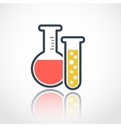 Chemical test tubes logo vector