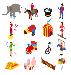 circus amusement and attraction icons set vector image vector image