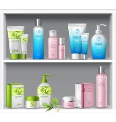 Cosmetics On Shelves vector image