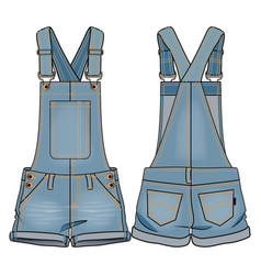 Denim kids overall vector