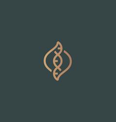 dna logo design template modern medical vector image vector image