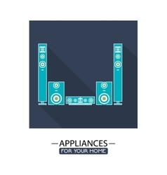 Electronic appliances for home design vector
