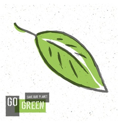 green leaf go green concept vector image