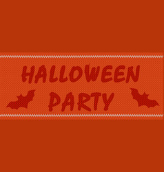 halloween party on orange vector image vector image