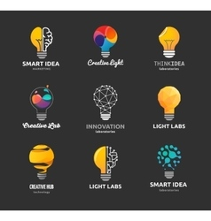 Light bulb - idea creative technology icons vector image vector image