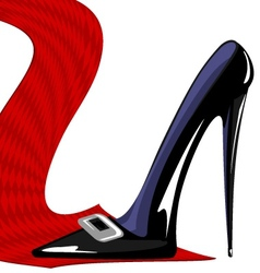 red tie and black shoe vector image vector image