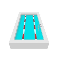 Sport swimming pool cartoon icon vector image vector image