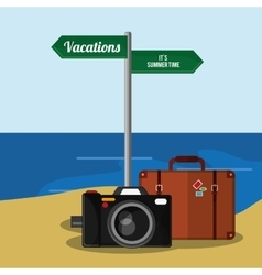 Time to travel vacations design vector