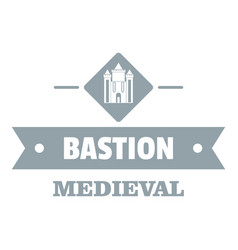 Victorian bastion logo simple gray style vector