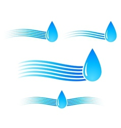 water drop with wave vector image vector image