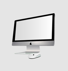 The monitor and PC mouse vector image