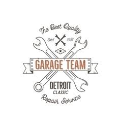 Garage service vintage tee design graphics vector