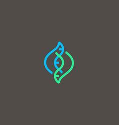Dna logo design template modern medical vector
