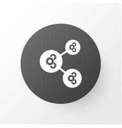 Gear algorithm icon symbol premium quality vector