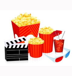 3d cinema objects vector