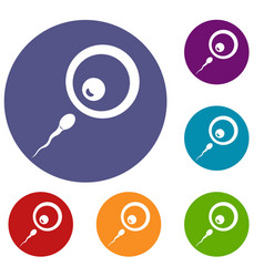 donor sperm icons set vector image
