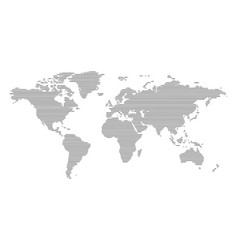 abstract computer graphic world map of lines vector image