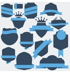 Stickers and badges flat style vector
