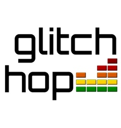 glitch hop with dj equalizer music volume-on alpha vector image