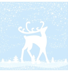 Reindeer in forest vector