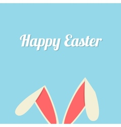Easter bunny ears card vector