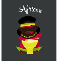 African black or negro man character africa vector
