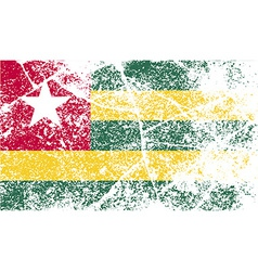 Flag of togo with old texture vector
